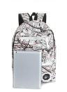 Fashion Colorful Print Zipper Closure Front Pocket Padded Travel Backpack