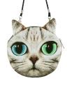 Novas mulheres bonitos saco gato cara Cartoon impressão Zipper encerramento mensageiro embreagem moeda bolsa bolsa de ombro