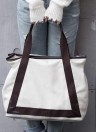 Fashion Women Canvas Casual Vintage  Tote PU Leather Handbags