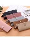 Women PU Leather Casual Tassel Wallet Clutch Bag