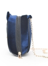 New Fashion Women Letter Embroidered Chain Bag Ear Detail Girls Shoulder Crossbody Bag Black/Red/Blue