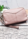 Fashion Women Leather Wallet Clutch Large Capacity Purse Multi-Zipper Lady Handbag Wristlet