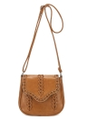 Vintage PU Leather Hollow Out Woven Braided Crossbody Shoulder Bag
