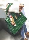 L'Europe Mode féminine PU Sac à main motif crocodile ruban Poignée de verrouillage Tote Sac à bandoulière Messenger Noir / Vert foncé