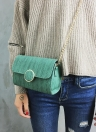Women Chain Shoulder Bag O-Ring Clutch  Crossbody Bag