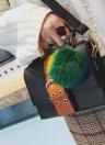 Mode Femmes Sac à bandoulière PU Cuir Boucle Pompon Petit Sac bandoulière Messenger Sac à main Marron / Vert / Rouge