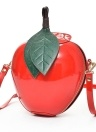 Apple Shape PU Leather Crossbody Bag Cute Cartoon Mini Messenger Bags