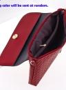 Nuevo las mujeres PU bandolera tejido botón rápido cremallera Casual Vintage embrague bolsas de hombro