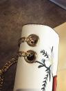 Chain Shoulder Bag PU Leather Girls Flower Small Crossbody Bag