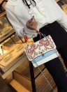 Pelle Embroideried PU Borsa del messaggero di Crossbody donne Rivet