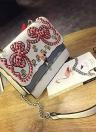 Embroideried PU Leather Messenger Crossbody Rivet Women's Bag