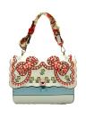 Embroideried PU bolsa de cuero del mensajero de Crossbody del remache de las mujeres