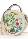 Fashion Women Embroidered PU Crossbody Bag Tassels Décor Grab Handle Shoulder Chain Bag Black/Red/White