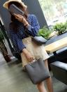 Bolso compuesto sólido de la PU de las mujeres de la moda
