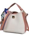 Women PU Leather Scarf Decoration Handbag Shoulder Bag