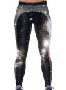 Европейские Женские Модные Леггинсы Галактический Цифровой Принт Эластичный Пояс Эластичные Узкие Обтягивающие Брюки