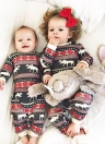 Infant Baby Bodysuit Macarrão Natal Pernamas de aparência familiar Hight 100cm