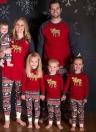 Младенческая детская одежда Bodysuit Rompers Christmas Family Pajamas Hight 100cm