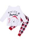 Enfants Noël famille manches longues pyjamas Size100
