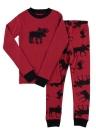 Pijamas de manga comprida de manga comprida para crianças de Natal Tamanho130