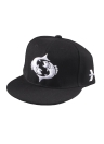 Hip-Pop Cartoon Pattern Embroidery Eyes Snap Back Black Baseball Cap