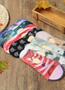 Nuove donne casuale taglio basso animali calzini belli Stampa traspirante antiscivolo design no-show Liner Socks invisibili