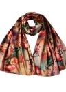 Nova Moda Mulheres Silk Scarf Floral Imprimir longo xaile macio Vintage Pashmina menina do Cabo