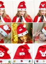 Cheer Christmas Reindeer Snowman Hat