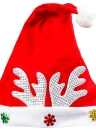 Christmas Santa Claus Antler Snowflake Party Cap Hat