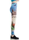 Ladies Yoga Running Leggings Pants Casual Funny Elastic Printed Pants Sexy Graffiti Leggings