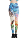 Ladies Yoga Running Leggings Pants Casual Funny Elastic Printed Pants Sexy Graffiti Leggings
