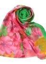 New Mulheres Chiffon Scarf Contrast floral Cor impressão coloridos longo xale Pashmina