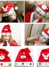Cheer Christmas Reindeer Snowman Cute Cap Hat