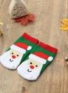 Moda muchacha del muchacho calcetines de la Navidad del muñeco de Santa Claus regalo ocasional Medias festiva impresos calcetines de algodón