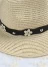 Chapéu cor cáqui/bege do verão praia de chapéu de palha, chapéu de sol moda das mulheres