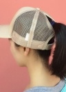 Mesh Baseball Cap Ponytail Breathable Adjustable Back Trucker Golf Peaked Hat Headwear