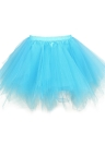 Women 1950s Vintage Tutu Petticoat Ballet Bubble Tulle Skirt Layered Mini Underskirt