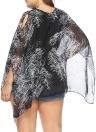 Top in Chiffon Taglie Donna Taglie a contrasto con stampa a contrasto Sciarpe Camicette Tees