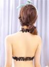 Новые сексуальные женщины бюстгальтер Холтер шеи передней закрытия регулируемые ремни кружева обратно мягкий пуш-ап бесшовные бюстгальтер