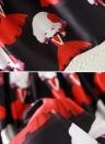 Neue Mode Frauen Midi Rock Mädchen Print Color Block elastisch hohe Taille a-Linie Faltenrock hübsch schwarz/Beige