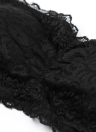 Женщины Sexy кружева Bandeau Бюстгальтер без бретелек проложенный Stretch Сиськи верхней части пробки черный / белый