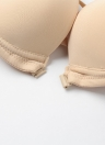 Новый сексуальный Женщины Бюстгальтер вязания Назад 3/4 чашки проложенный косточках передняя Закрытие Push Up Bra Бесшовные черный / бежевый / красный