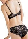 Lace Spaghetti Lingerie Sets With Scaloped Panties