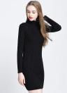 Turtleneck Bodycon Mini Sweater Dress