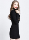 Turtleneck Bodycon Mini Sweater Dress