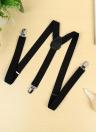 Nouveau mode hommes femmes Clip sur bretelles élastiques Y-forme arrière formelle bretelles réglables unisexe