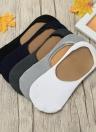 Nueva moda de los hombres calcetines elastizados sólido escotado invisible Anti Slip Silicon holgazán Calcetines