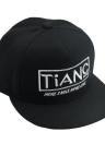 Hip-Pop nuevo de la manera mujeres de los hombres del casquillo unisex de la letra del bordado broche de presión sombrero plano de béisbol danza Cap Negro