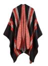 Vintage Faux Cashmere tejidos punto rayas patrón de las mujeres Cardigan