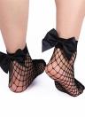 Fashion Women Harajuku Calzini a rete con nodi a fiocco Maglia traspirante a rete con calzettoni